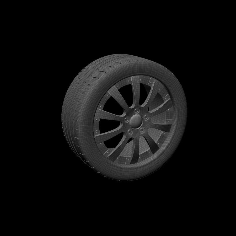 Michelin Asanti Wheel royalty-free 3d model - Preview no. 9