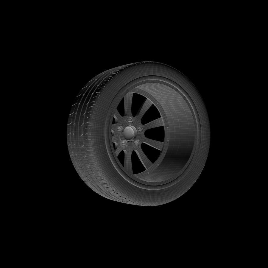 Michelin Asanti Wheel royalty-free 3d model - Preview no. 8
