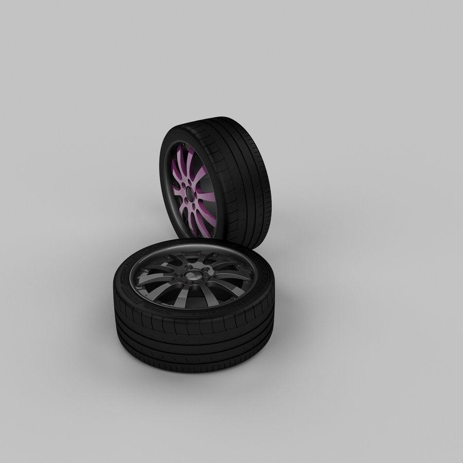 Michelin Asanti Wheel royalty-free 3d model - Preview no. 4