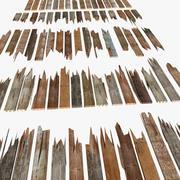 Houten gebroken plank Schade Plank Timmerhout Zaagsel Puininzameling 3d model