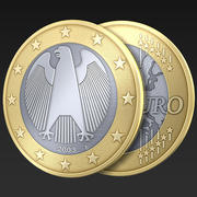 Euro moneta Germania 3d model