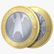 Евро Монета Германия 3d model