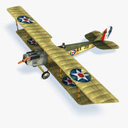 Curtiss JN 4 Low Poly 3d model