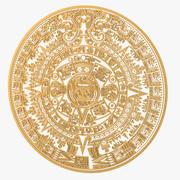 Calendario maya modelo 3d