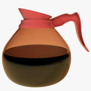 Glass Coffee Pot 3d model