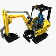 Compact Excavator Lego 3d model