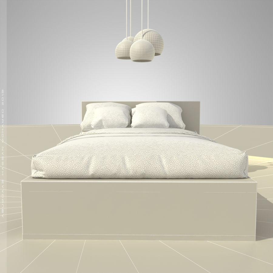 Кровать 2 royalty-free 3d model - Preview no. 5