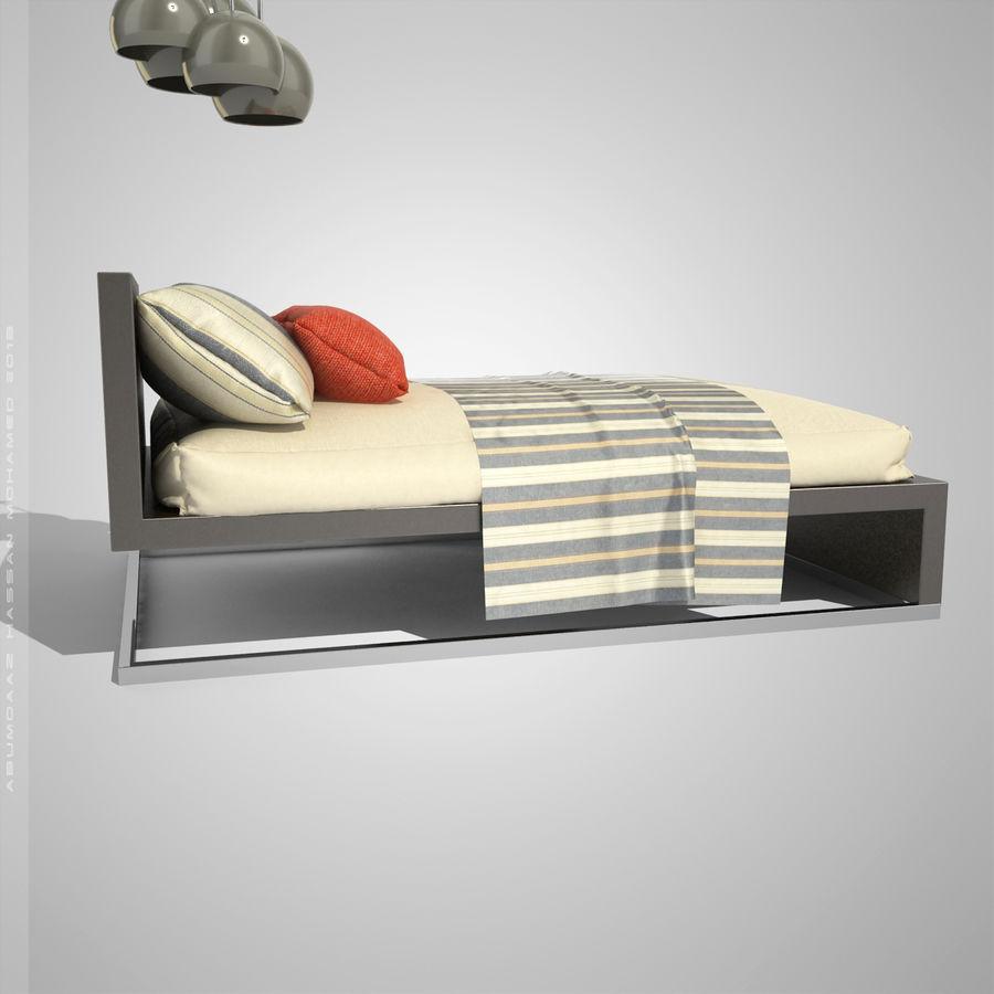 Кровать 2 royalty-free 3d model - Preview no. 3