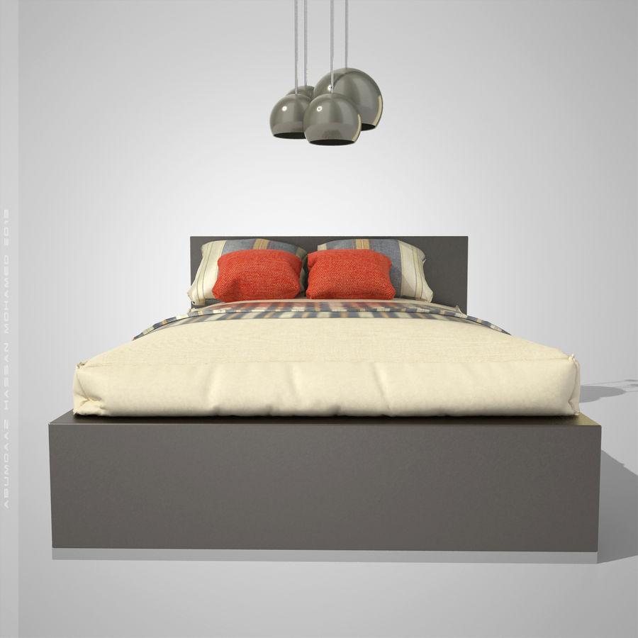 Кровать 2 royalty-free 3d model - Preview no. 4
