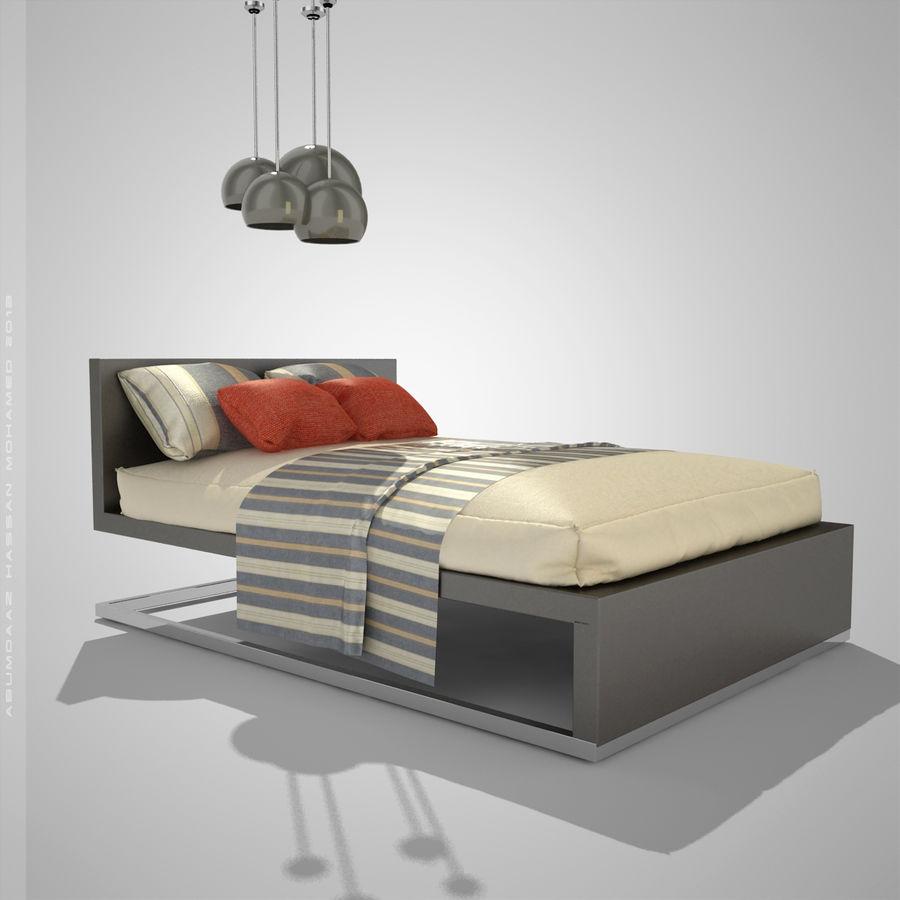 Кровать 2 royalty-free 3d model - Preview no. 1