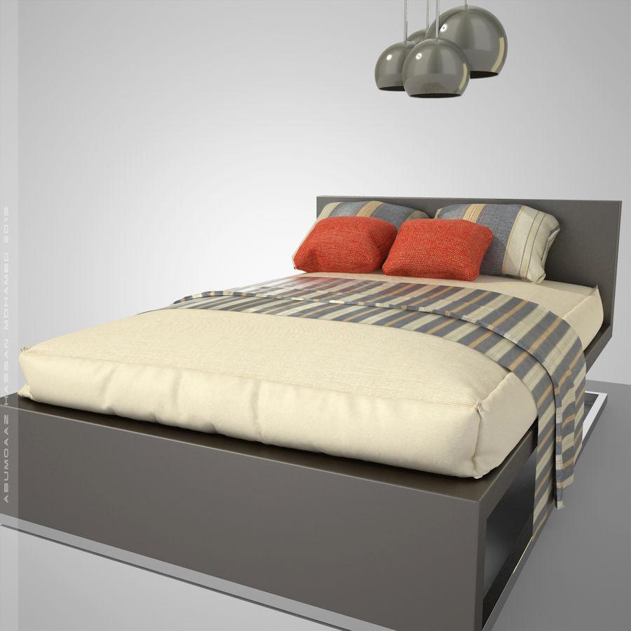 Кровать 2 royalty-free 3d model - Preview no. 2