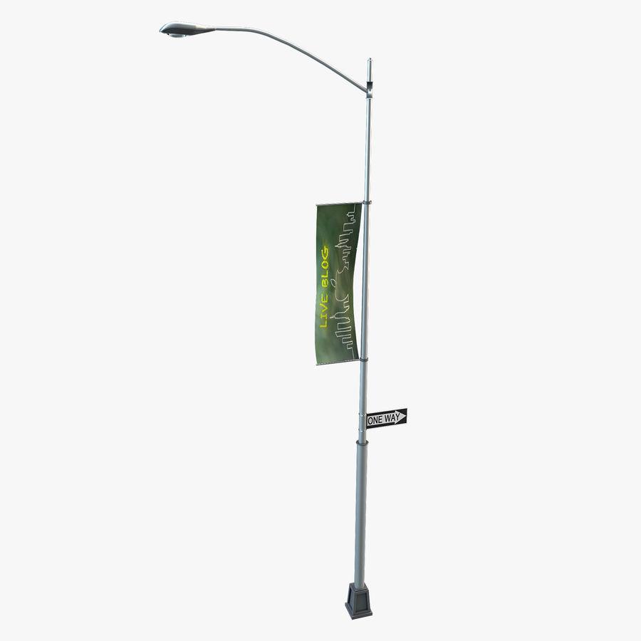 Lâmpada de rua da cidade royalty-free 3d model - Preview no. 1