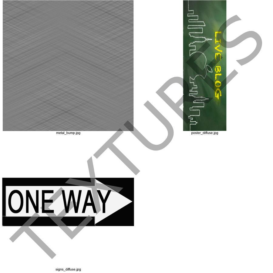 Lâmpada de rua da cidade royalty-free 3d model - Preview no. 6