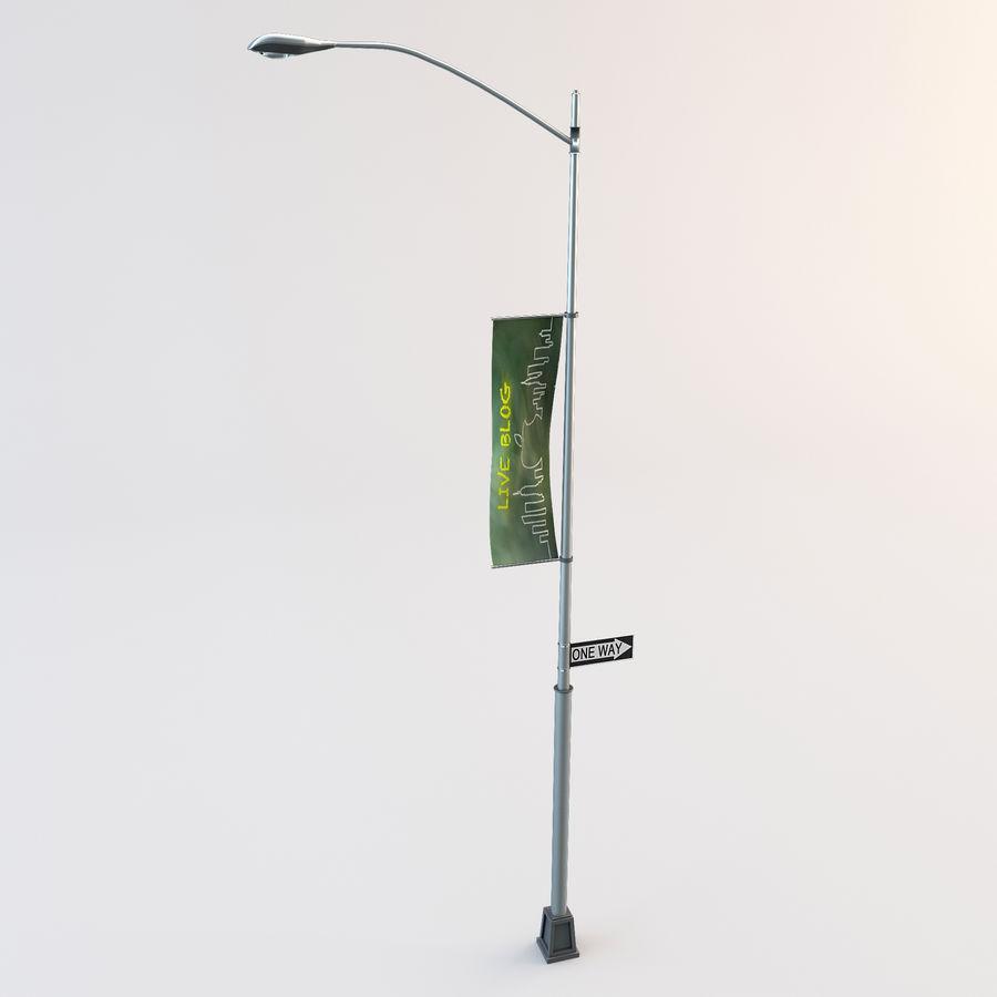 Lâmpada de rua da cidade royalty-free 3d model - Preview no. 2