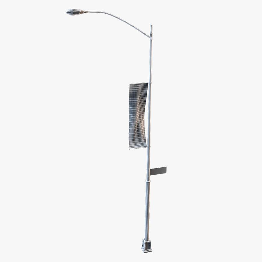 Lâmpada de rua da cidade royalty-free 3d model - Preview no. 4