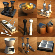 Spices set 3d model