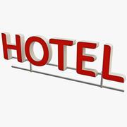 Hotel Sign 3d model