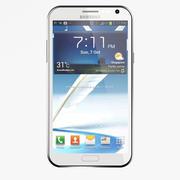 Samsung Galaxy Note 2 White 3d model