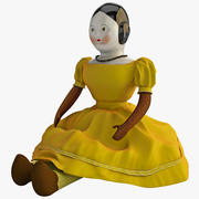 Antique China Doll 3d model