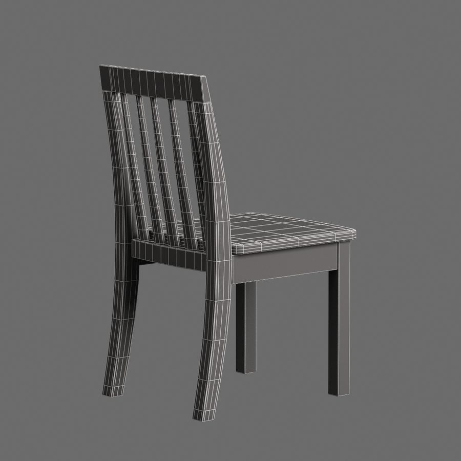 Children Chair 008 royalty-free 3d model - Preview no. 8