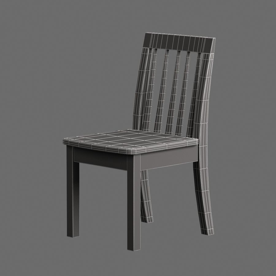 Children Chair 008 royalty-free 3d model - Preview no. 7