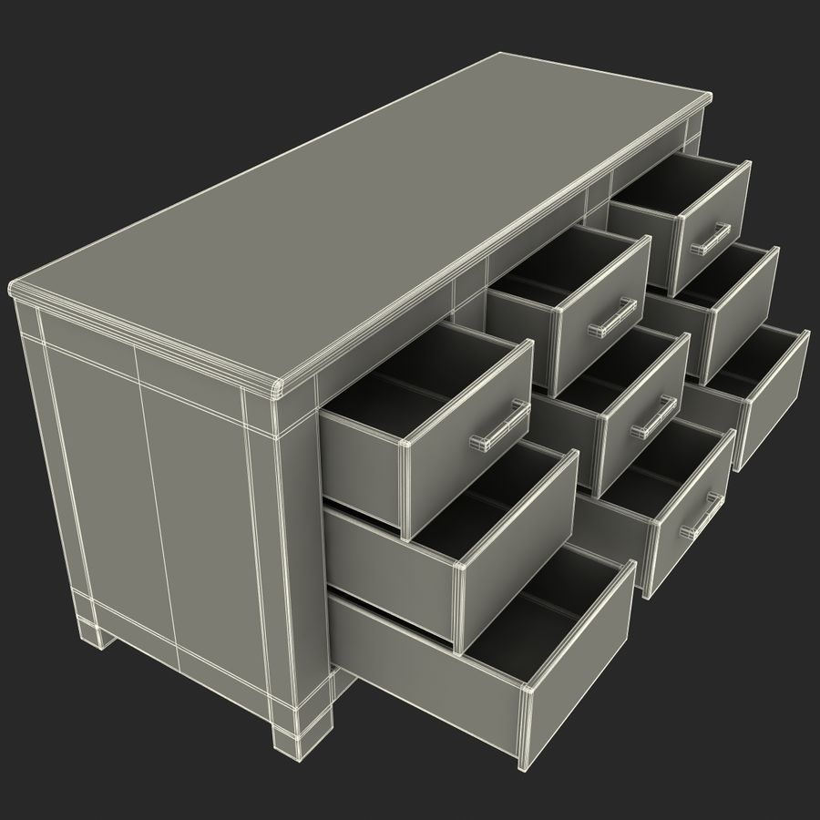 buffet royalty-free 3d model - Preview no. 21
