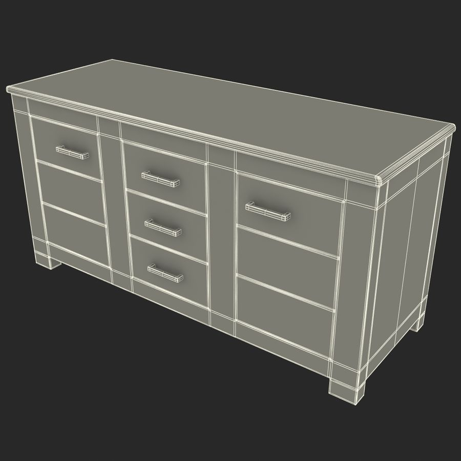 buffet royalty-free 3d model - Preview no. 14