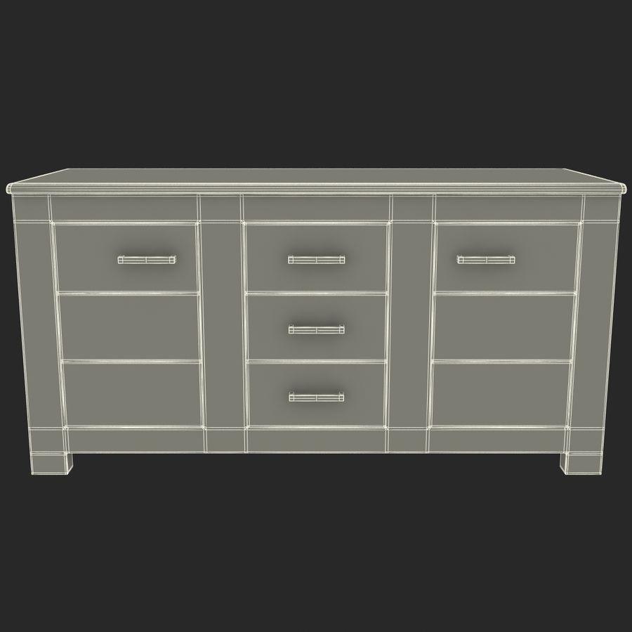 buffet royalty-free 3d model - Preview no. 18