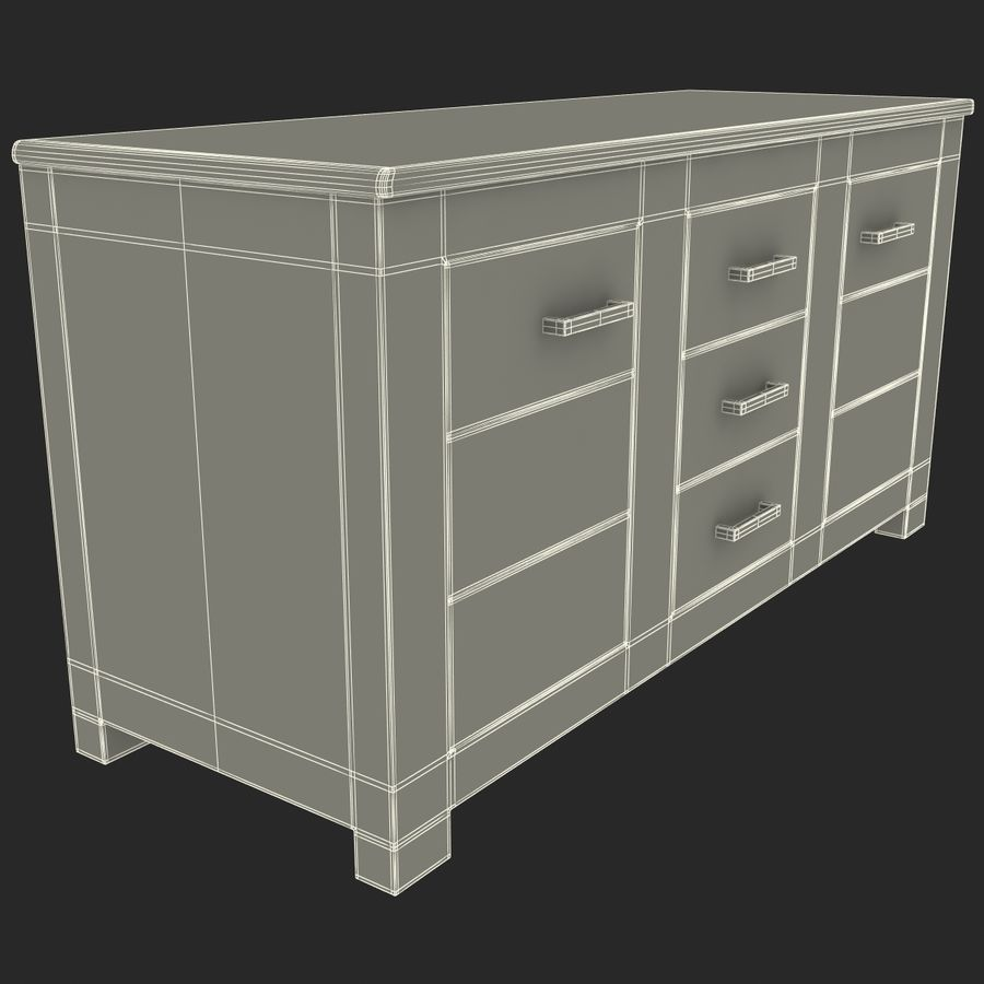 buffet royalty-free 3d model - Preview no. 20