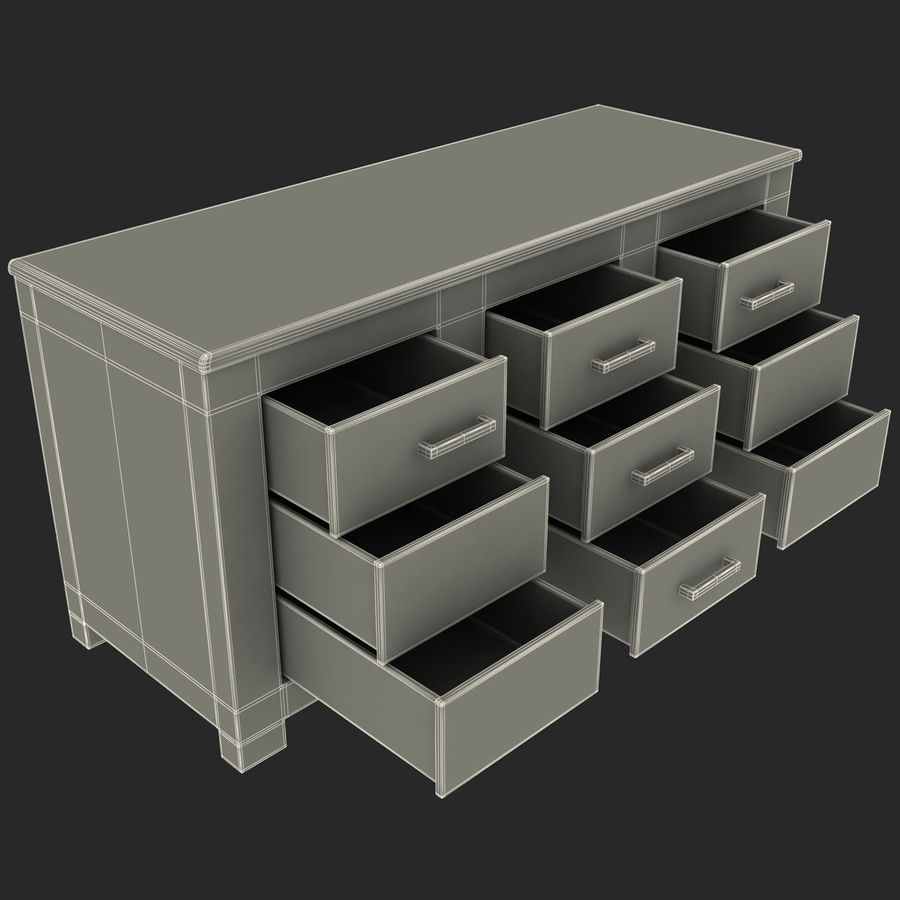 buffet royalty-free 3d model - Preview no. 13