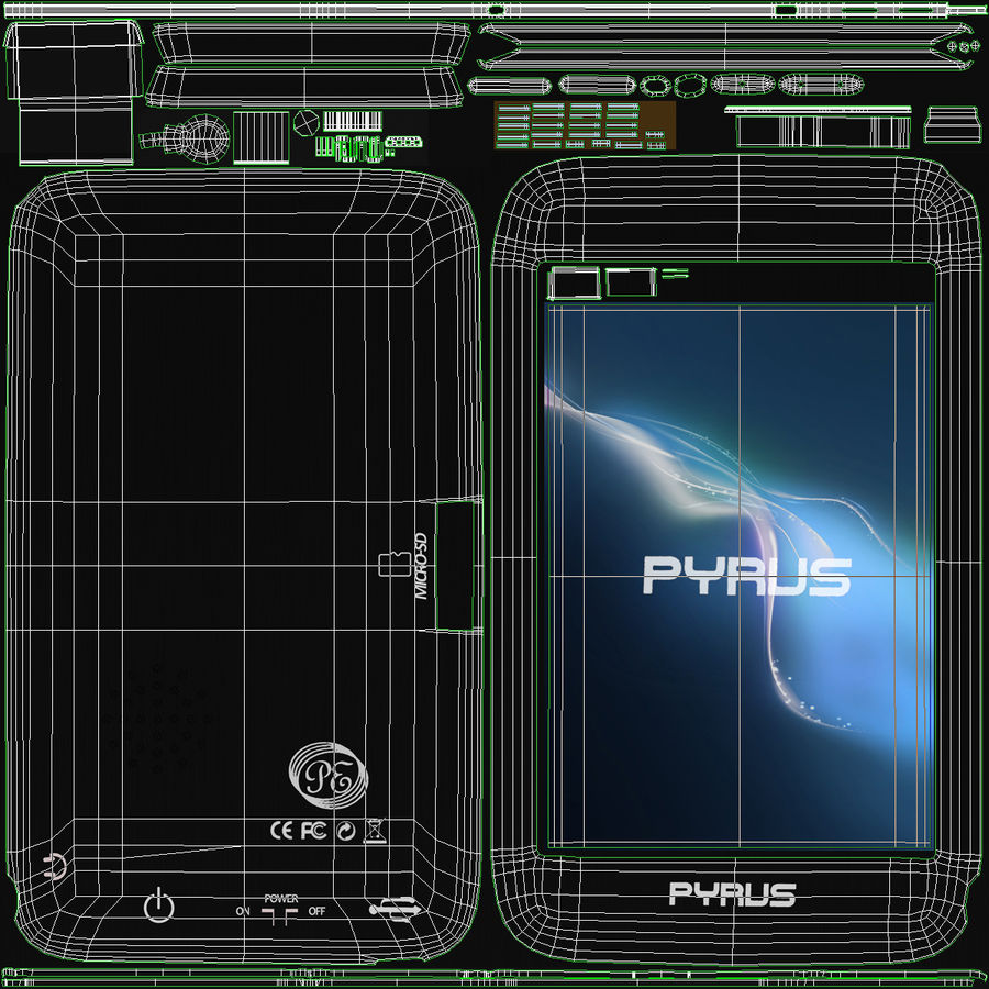 Mp3 Player Pyrus Electronics royalty-free 3d model - Preview no. 15