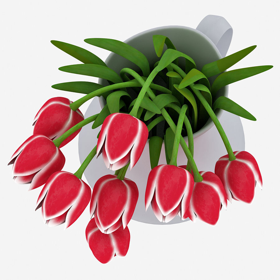 Fleurs de tulipes royalty-free 3d model - Preview no. 14