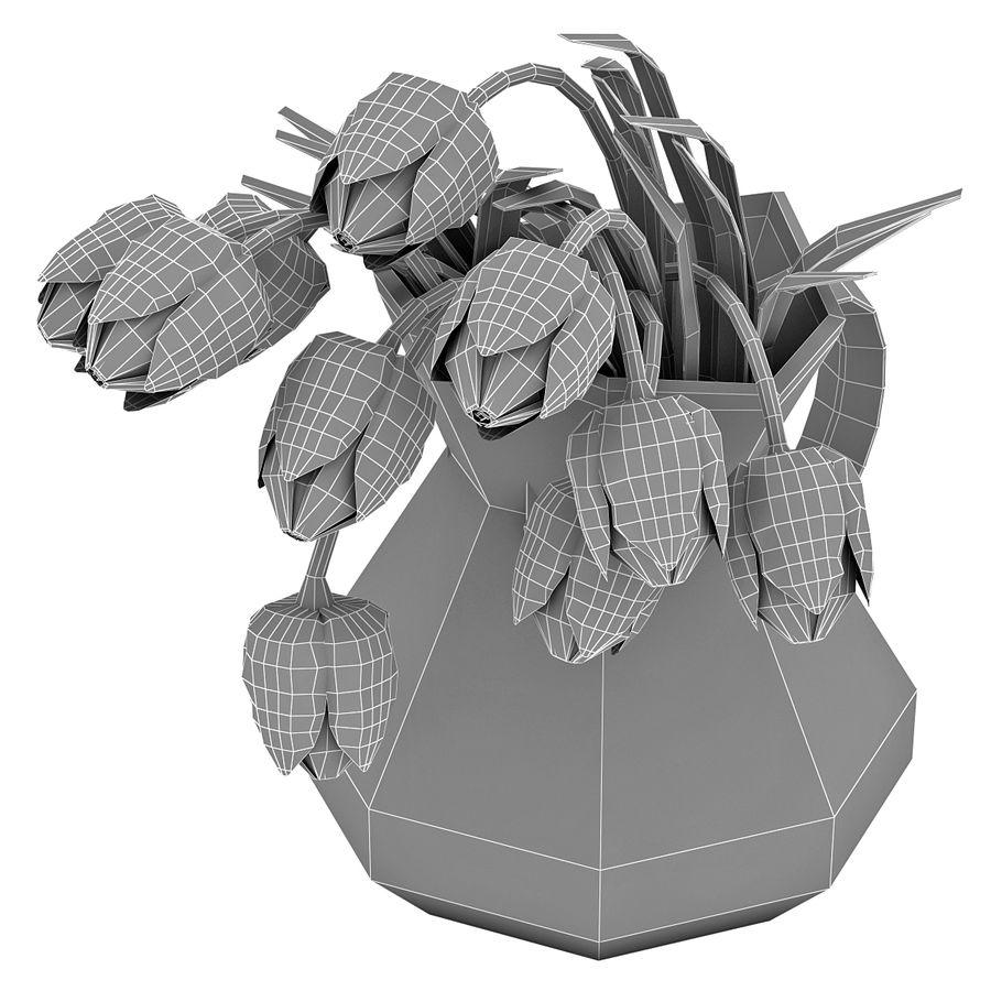 Fleurs de tulipes royalty-free 3d model - Preview no. 16