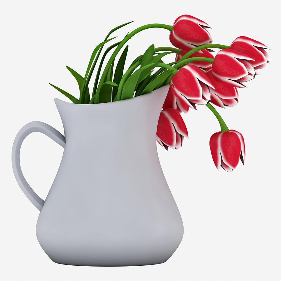 Fleurs de tulipes royalty-free 3d model - Preview no. 5