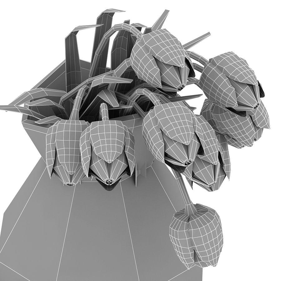 Fleurs de tulipes royalty-free 3d model - Preview no. 26