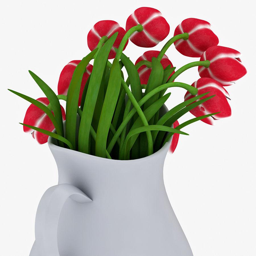 Fleurs de tulipes royalty-free 3d model - Preview no. 12