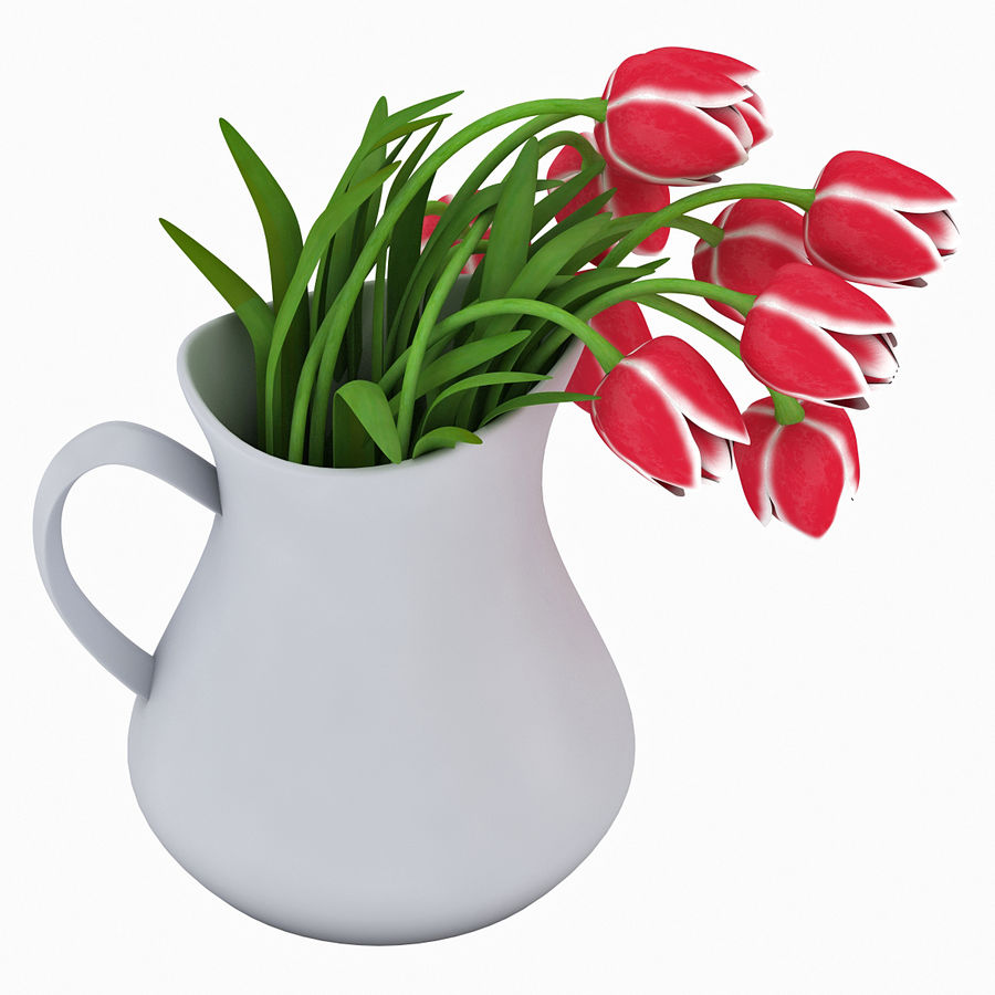 Fleurs de tulipes royalty-free 3d model - Preview no. 6