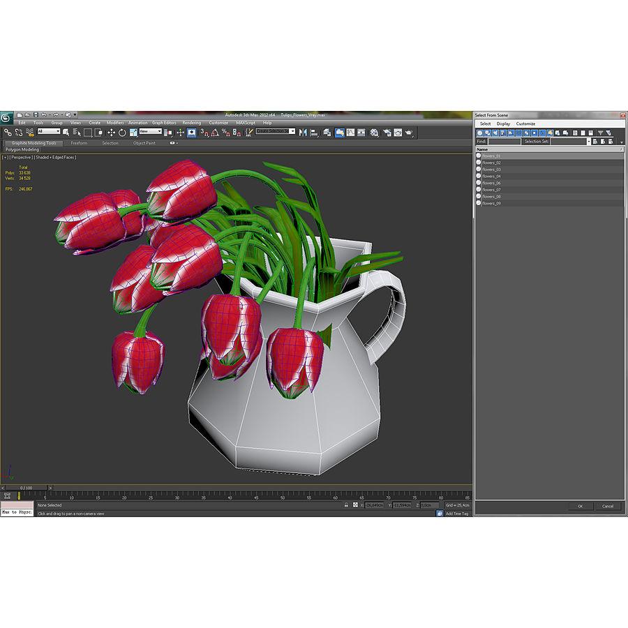 Fleurs de tulipes royalty-free 3d model - Preview no. 35