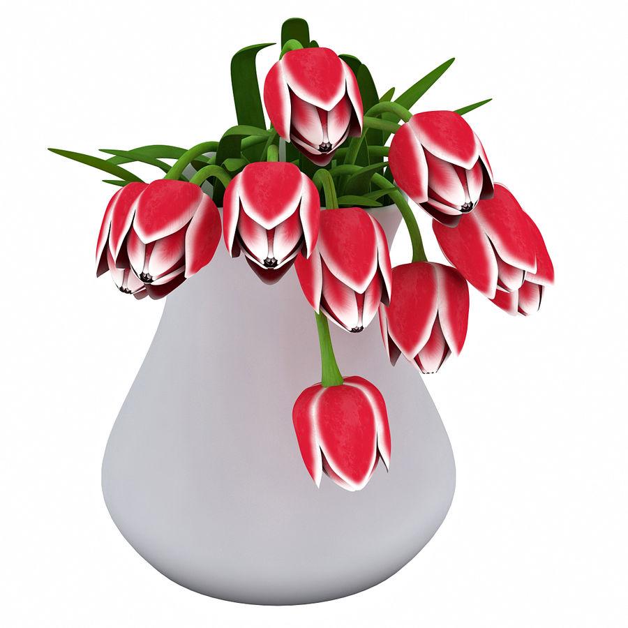 Fleurs de tulipes royalty-free 3d model - Preview no. 8