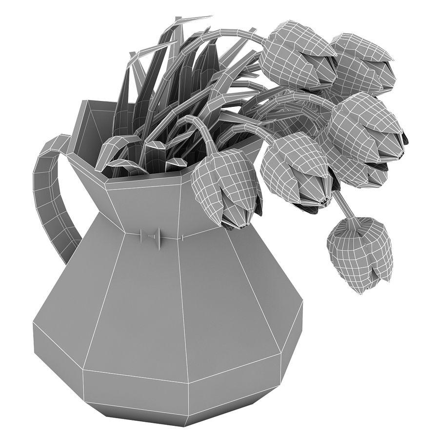 Fleurs de tulipes royalty-free 3d model - Preview no. 20