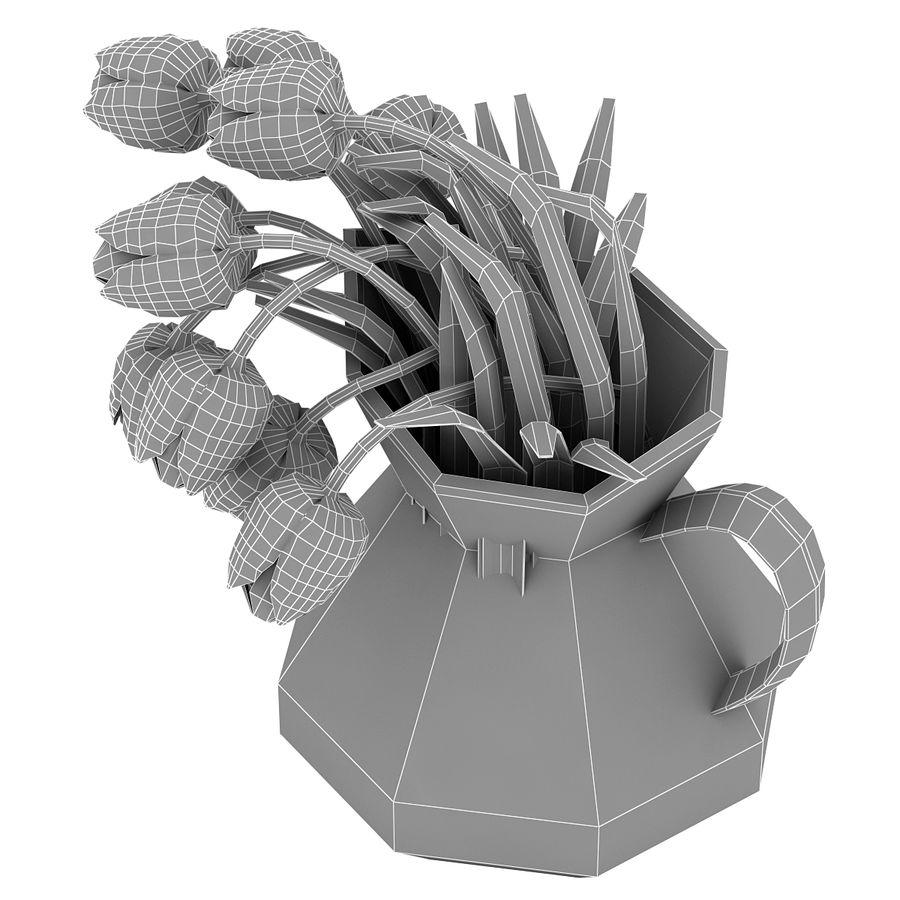 Fleurs de tulipes royalty-free 3d model - Preview no. 22