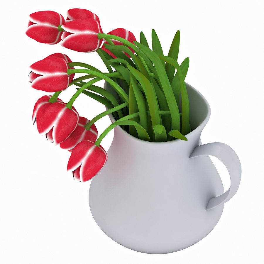 Fleurs de tulipes royalty-free 3d model - Preview no. 9