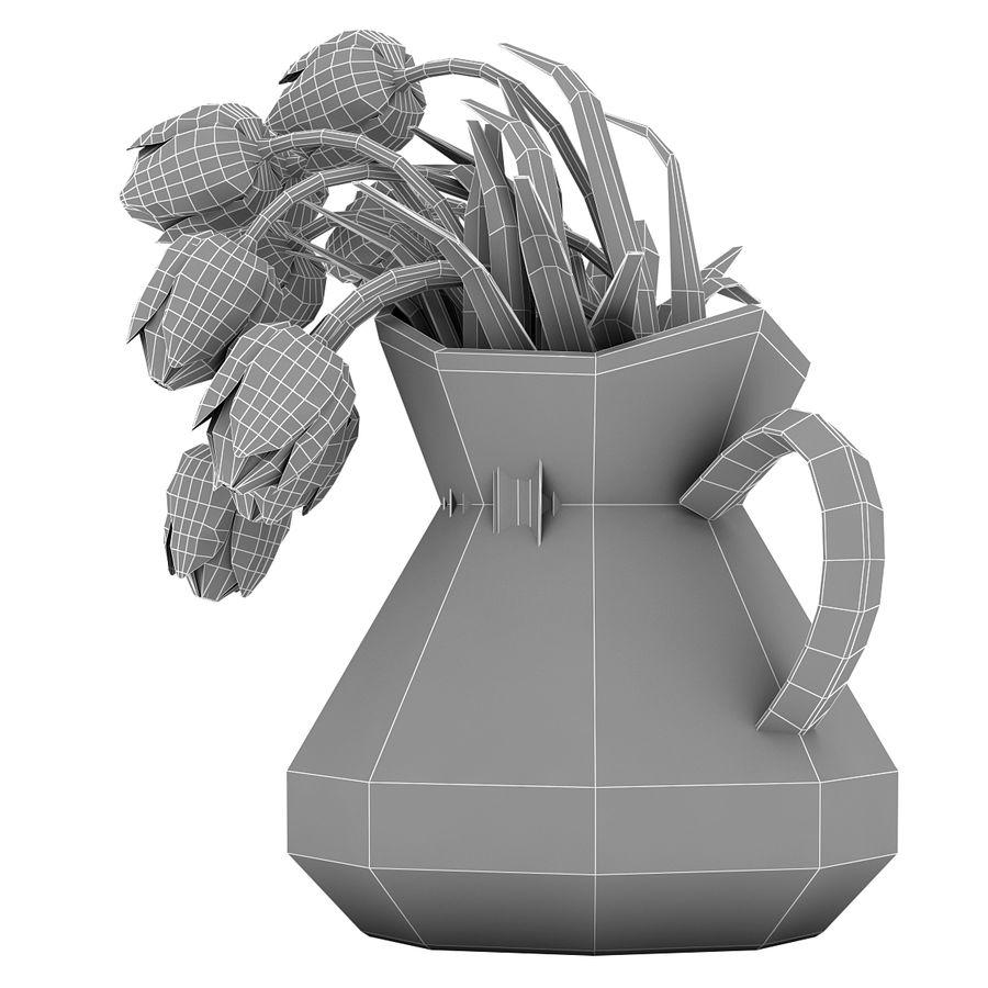 Fleurs de tulipes royalty-free 3d model - Preview no. 23