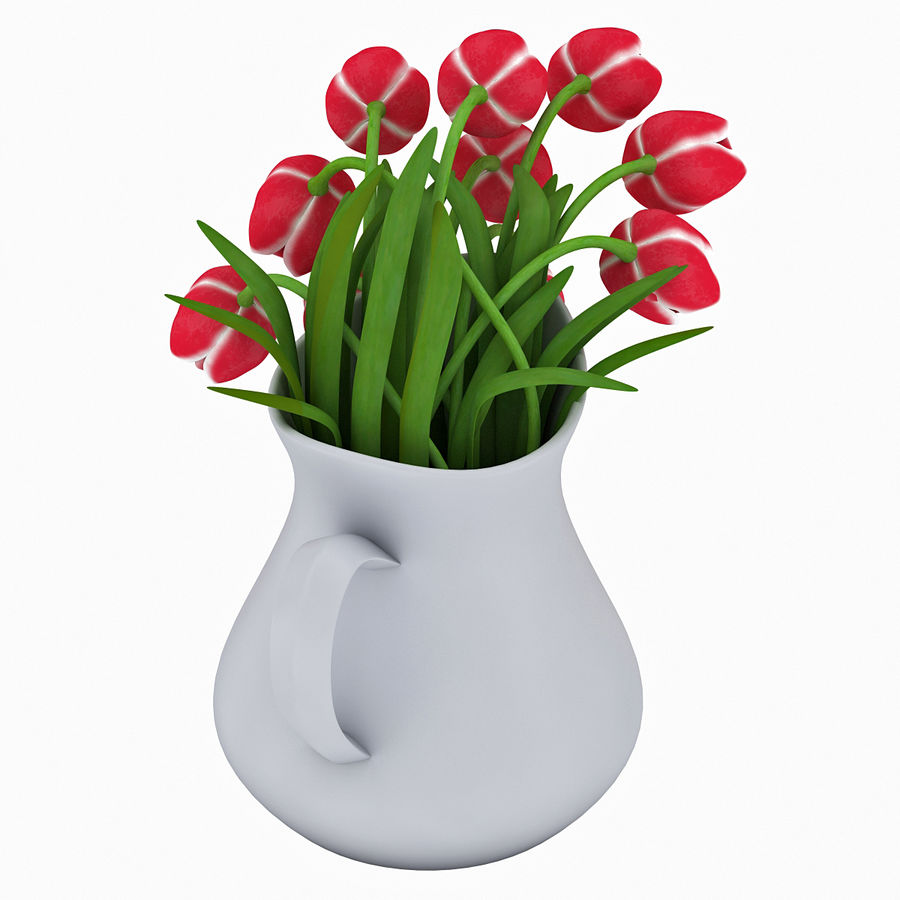 Fleurs de tulipes royalty-free 3d model - Preview no. 11
