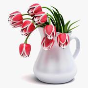 Flores de tulipanes modelo 3d