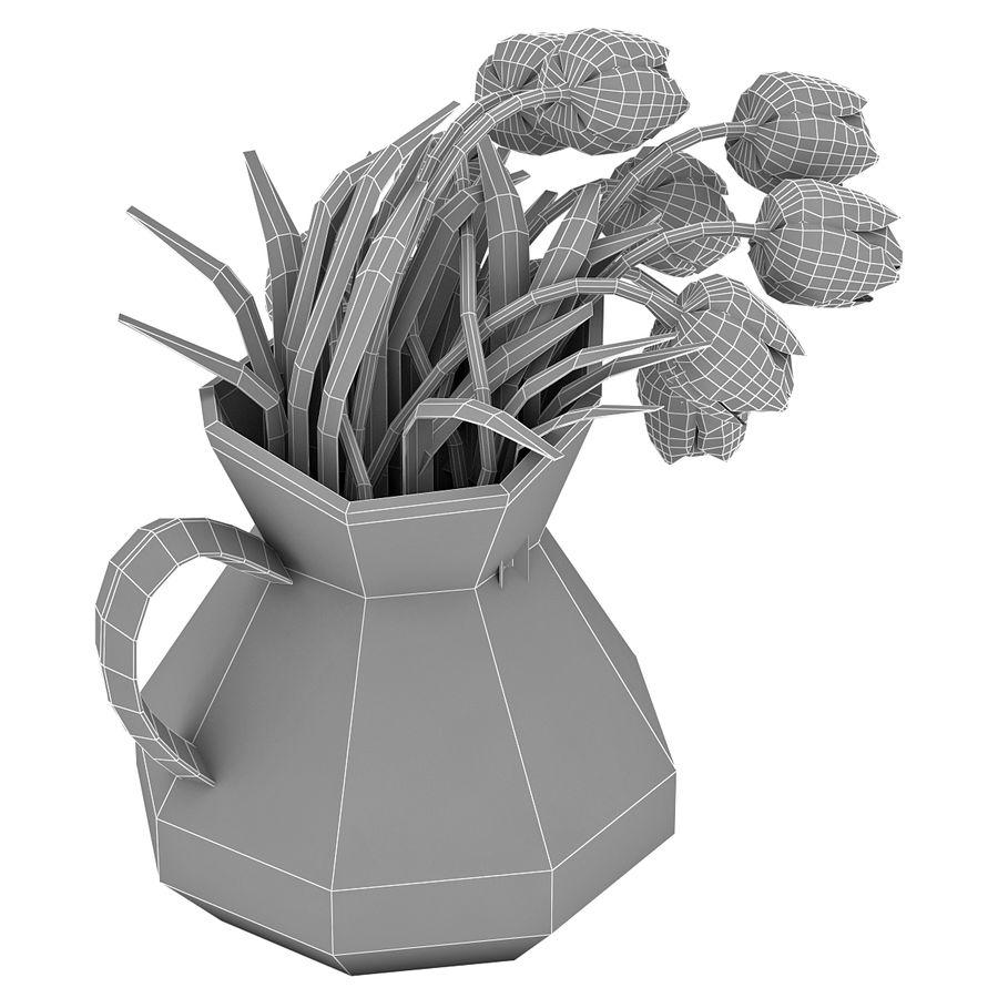 Fleurs de tulipes royalty-free 3d model - Preview no. 17