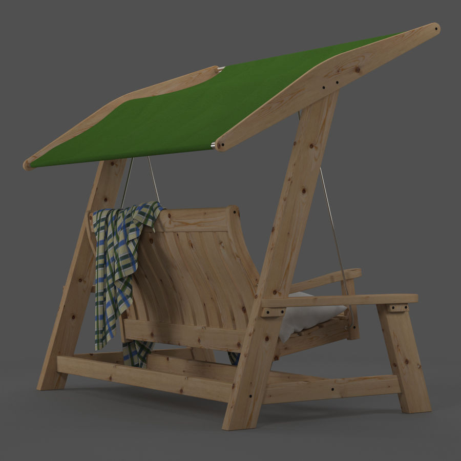 Garden Swing royalty-free 3d model - Preview no. 4