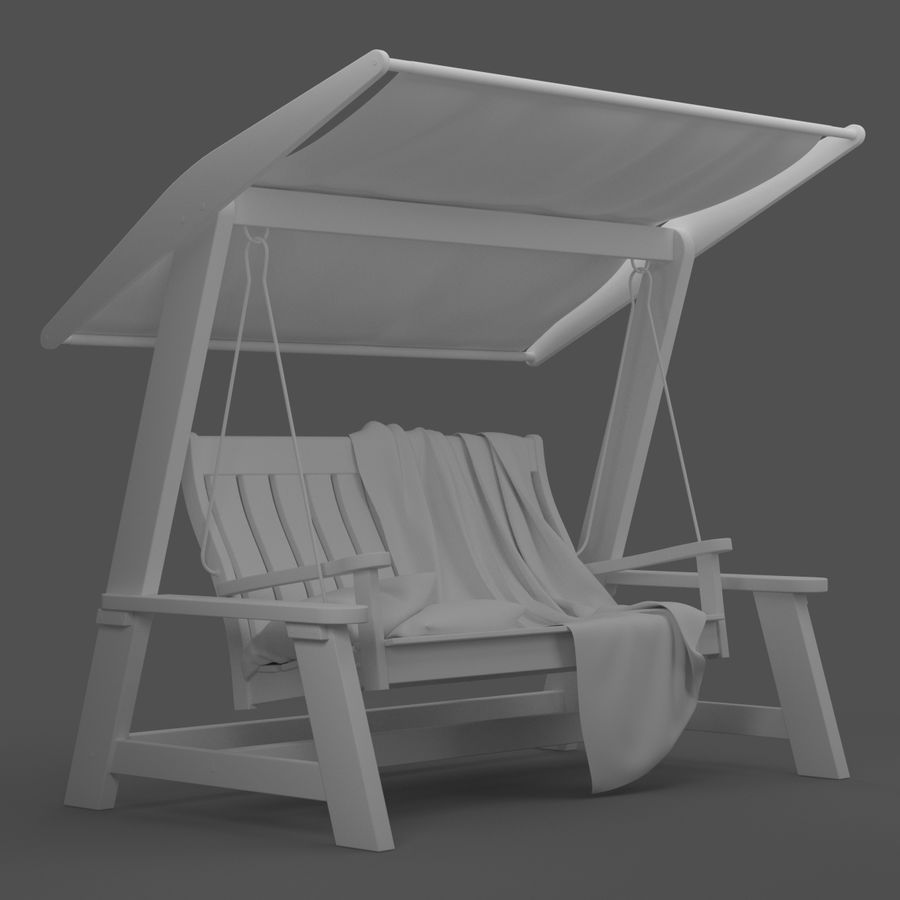 Garden Swing royalty-free 3d model - Preview no. 15