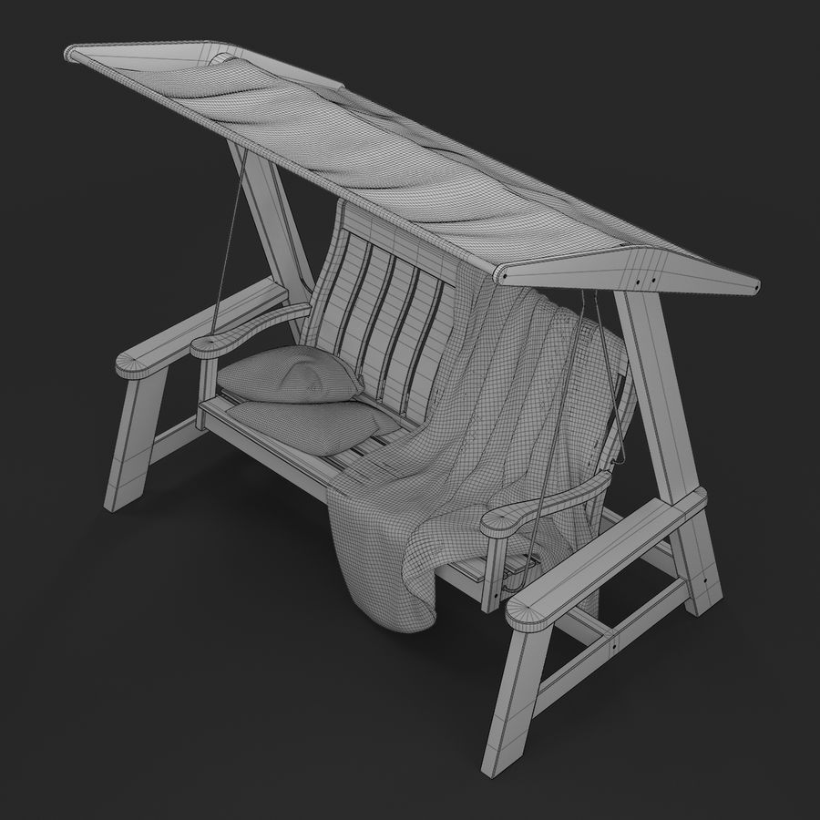 Garden Swing royalty-free 3d model - Preview no. 18