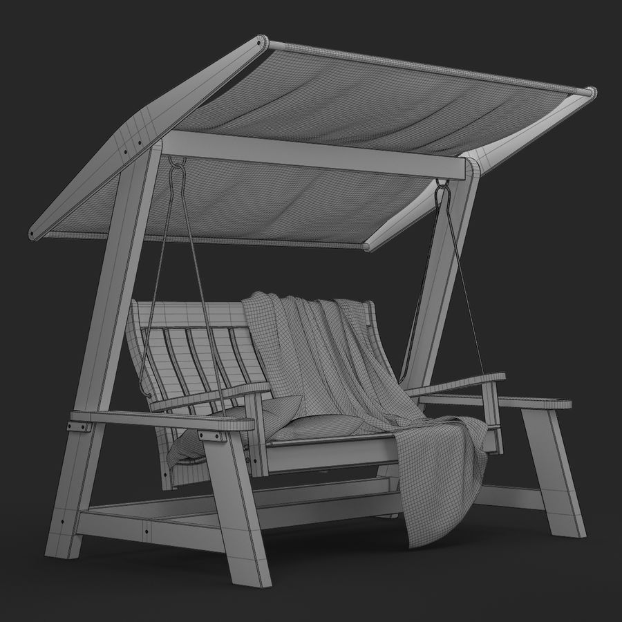 Garden Swing royalty-free 3d model - Preview no. 17